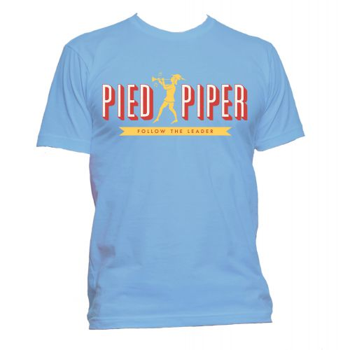 Pied Piper T Shirt Carolina Blue [109]