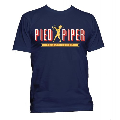 Pied Piper T Shirt Navy [32]