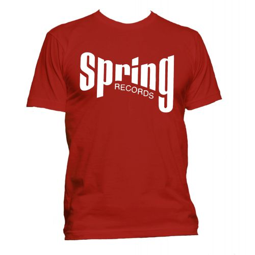 Spring Records '60s' T Shirt Red [40]